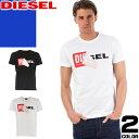 ディーゼル DIESEL Tシャツ メンズ 半袖 クルーネック ブランド 大きいサイズ おしゃれ 黒 白 ブラック ホワイト T-DIEGO-QA 00S02X 0091B [ゆうパケ発送]
