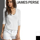 [最終SALE9,180円→5,780円] ジェームスパース Tシャツ JAMES PERSE 長袖 Vネック レディース スリードッツ three dots好きにも [メール便発送]