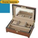 ロイヤルハウゼン ジュエリーボックス ジュエリーケース ジュエリー アクセサリー ケース 収納BOX ボックス 木製 ガラス ブラウン ネックレス ピアス リング用 Royal hausen SDJR011