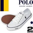 ポロ ラルフローレン Polo Ralph Lauren スニーカー レディース スリッポン 白 黒 キャンバス ファッション ママ おしゃれ Carson Lace