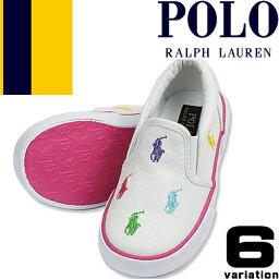 ポロ <strong>ラルフローレン</strong> スニーカー キッズ ベビー シューズ 子供靴 女の子 <strong>男の子</strong> 白 紺 ピンク スリッポン 13cm 15cm 16cm <strong>出産祝い</strong> ブランド Polo Ralph Lauren BAL HARBOUR II BAL HARBOUR REPEAT