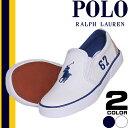 [最終SALE5,400円→2,999円] ポロ ラルフローレン Polo Ralph Lauren スニーカー キッズ 子供靴 女の子 男の子 白 紺 スリッポン 14cm 15cm 16cm Victory