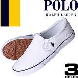 ポロ ラルフローレン Polo Ralph Lauren スニーカー スリッポン レディース 白 黒 キャンバス ファッション ママ おしゃれ Carlee Twin Gore2
