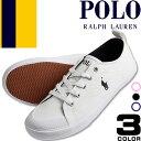 ポロ ラルフローレン Polo Ralph Lauren スニーカー レディース 白 紺 ホワイト ネイビー キャンバス ファッション ママ おしゃれ SLATER