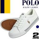 ポロ ラルフローレン Polo Ralph Lauren スニーカー メンズ 白 紺 ホワイト ネイビー キャンバス ファッション おしゃれ Geffrey