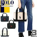 ポロ ラルフローレン トートバッグ Polo Ralph Lauren ビッグポニー キャンバス トート バッグ ミニトート School Tote Small[S]