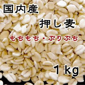 雑穀習慣 国産 押麦 1kg【国産 押し麦 麦 むぎ 大麦 おおむぎ オオムギ 夏 カレー 麦ごはん】
