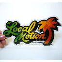 ハワイ ステッカー Local Motion(ローカルモーション)(オレンジやしの木)(小)【ハワイアン雑貨】【ハワイ雑貨】【DM便・ネコポス対応可】サーフボード スノーボードステッカー