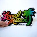 ハワイ ステッカー Local Motion(ローカルモーション)(レインボー)(小)【ハワイアン雑貨】【ハワイ雑貨】【DM便・ネコポス対応可】サーフボード スノーボードステッカー