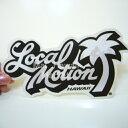 ハワイ ステッカー Local Motion(ローカルモーション)(白)(小)【ハワイアン雑貨】【ハワイ雑貨】【DM便・ネコポス対応可】サーフボード スノーボードステッカー