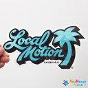 ハワイ ステッカーLocal Motion(ローカルモーション)(水色)(小)【ハワイアン雑貨】【ハワイ雑貨】【DM便・ネコポス対応可】サーフボード スノーボードステッカー