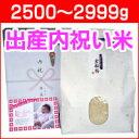 出産内祝い米 体重米[2500〜2999g]新米/送料無料 出産 内祝い 米 お返し 写真入りメッセージカード 新潟米