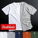 HEALTH KNIT 【ヘルス ニット】 906S 半袖 ヘンリーネックTシャツ メンズ