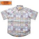 送料無料 CAMCO 【カムコ】 半袖 フラワープリント ボタンダウンシャツ メンズ 【smtb-m】