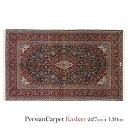 ペルシャ絨毯 カシャーン 227×130cm / ウール 手織り 手作業 織り子 イラン製 ラグ マット 絨毯 kashan