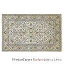 ペルシャ絨毯 カシャーン 220×138cm / ウール 手織り 手作業 織り子 イラン製 ラグ マット 絨毯 kashan