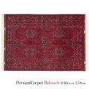 ペルシャ絨毯 バルーチ 216×158cm / ウール 手織り 手作業 織り子 イラン製 ラグ マット 絨毯 balouch