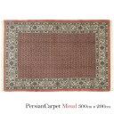 ペルシャ絨毯 ムード 300×200cm / ウール 手織り 手作業 織り子 イラン製 ラグ マット 絨毯 moud