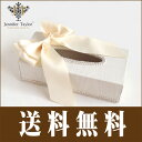 [送料無料]Chinon-シノン(ホワイト)ティッシュボックス リボン/ジェニファーテイラー
