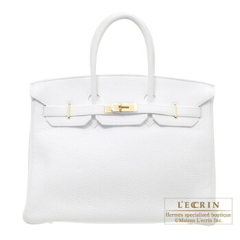 HermesBirkinbag35WhiteClemenceleatherGoldhardware