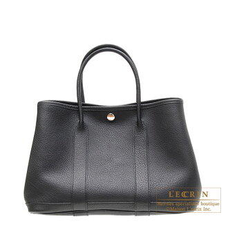 Hermes Garden Party bag TPM Black Negonda leather