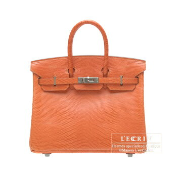 HermesBirkinbag25OrangeLizardskinRutheniumhardware