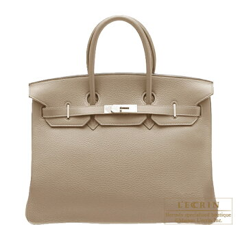 HermesBirkinbag35Gristourterelle/MousegreyClemenceleatherSilverhardware