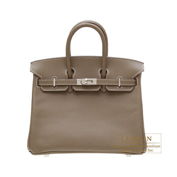 HermesBirkinbag25Etoupe/TaupegreyEpsomleatherSilverhardware