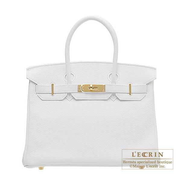 エルメス バーキン30 ホワイト トリヨンクレマンス ゴールド金具 HERMES Birkin bag 30 White Clemence leather Gold hardware
