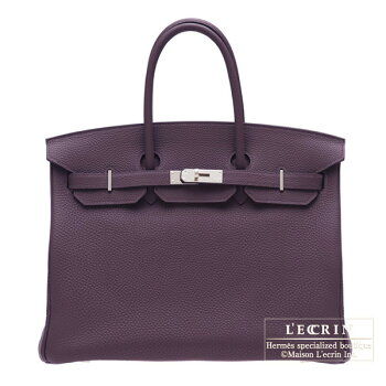 HermesBirkinbag35Raisin/PurpleTogoleatherSilverhardware