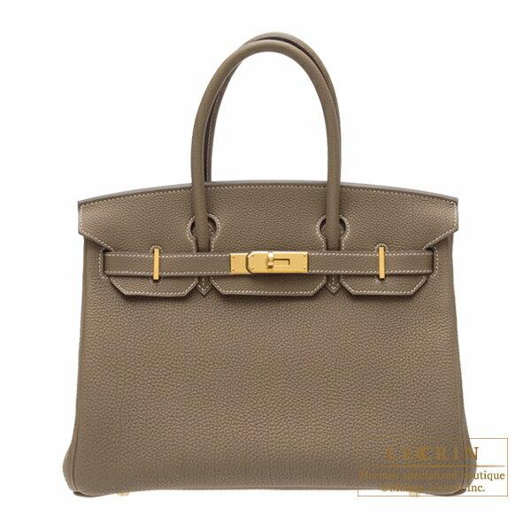 エルメス バーキン30 エトゥープ トゴ ゴールド金具 Hermes Birkin bag 30 Etoupe grey Togo leather Gold hardware