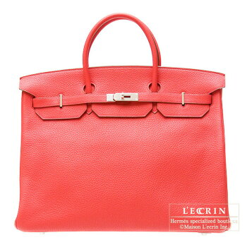 HermesBirkinbag40BougainvillierClemenceleatherSilverhardware