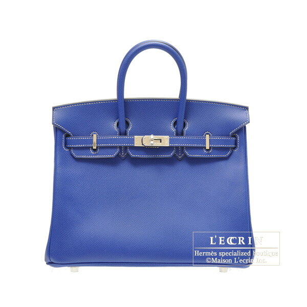 ... Hermes Candy Birkin bag 25 Blue electric Epsom leather Silver hardware