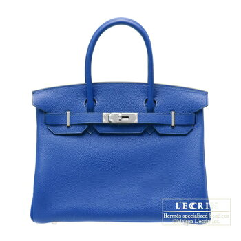 HermesBirkinbag30BlueelectricTogoleatherGoldhardware
