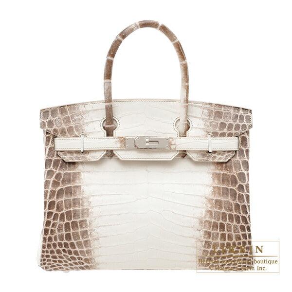 에르메스 버 킨 30 히말라야 악어 ニロティカスマット 실버 브래킷 Hermes Birkin bag 30 Himalaya Matt niloticus crocodile skin Silver hardware