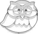 【BIRKMANN】クッキー抜き型フクロウ (Frido the Owl)【ドイツのクッキー型】