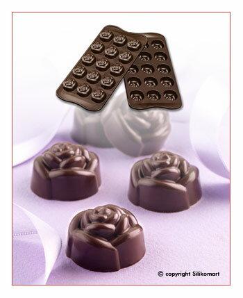 【シリコマート Silikomart】【チョコレート型】シリコンモールド・ROSE【シリコンゴム型】EASY CHOCO