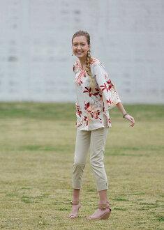 潛在的麗晶潔具沖繩版艾瑪馬鈞 (專業) 婦女束腰連衣裙耀斑秘密花 (上衣)