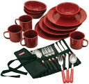 コールマン テーブルウェアセット Speckled Enamelware Dining Kit (赤)