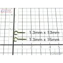 【Garage Bolster】 オープンヒートン 1.3mm径各サイズ [1.3mm×13mm/1.3mm×15mm] ルアーメイキング用オープンア…