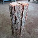 スウェディッシュトーチ(ナラ)2本入り|木のろうそく|丸太に切り込みを入れた天然のウッドキャンドル|上部の熱を利用して調理もできます