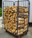 ナラ乾燥薪36cm特大割50束(550kg)【ご予約可能】太い薪のみを麻紐で結束 火持ち抜群
