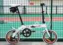 送料税込み!ハチコHACHIKOジュラルミン折りたたみ自転車SHIMANOシマノ6段変速14インチ[98%完成品] 泥よけ付きプレゼントがあり!白(H..