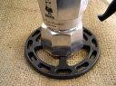 ショッピングガスコンロ 小さなエスプレッソポットもこれで安心!ILSA(イルサ)ガスバーナープレートφ12cmエスプレッソ用ガスコンロアダプター