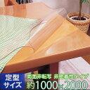 テーブルマット 非密着性タイプ 両面非転写 2mm厚 TR2-2010 定型サイズ 1000×2000mm ( デスクマット テーブルクロス ダイニングテーブル 食卓 机 送料無料 )