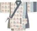【甚平 子供】【ベビー 甚平スーツ】(日本の風物)だるま(達磨)柄・ツムギクロス 甚平スーツ(日本製