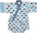 【甚平 子供】【ベビー 甚平スーツ】(日本の風物)富士山柄・ツムギクロス 甚平スーツ(日本製)90?