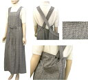 最高級ウール100%グレンチェックラップジャンパースカート通常販売価格5,880円を初売りタイムセール30%OFF特価