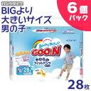 GOO.N[グーン] やわらかフィットパンツ BIGより大きいサイズ 男の子 28枚×6個パック【D】【AR】【RCP】