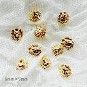 【メール便OK】☆ライオン フェイス 顔 6mm×7mm 月 ゴールド アニマル 動物 獅子 メタルパーツ サマーネイル
